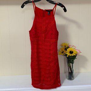 LAST CHANCE Forever 21 High Neck CROCHET Dress L